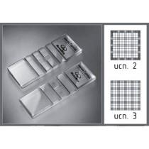 Камера для счета форменных элементов крови (Камера Горяева) 2-х сеточная, исполнение 3